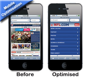 A complete redesign is sometimes more appropriate than mobile optimisation
