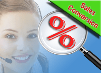 The efficacy of sales conversion is measured by the sales conversion rate