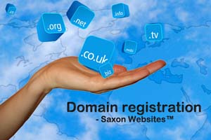 Advice on domain registration is free when you commission Saxon Websites™ to design your website